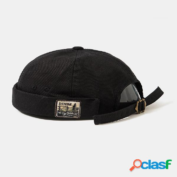 Hombres y mujer retro hip hop sombrero marinero sombrero gorras sin ala moda cráneo gorras