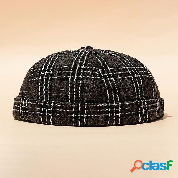 Unisex dome retro largo sin tirantes sin borde sombrero gorra de marinero de hip hop cráneo gorras