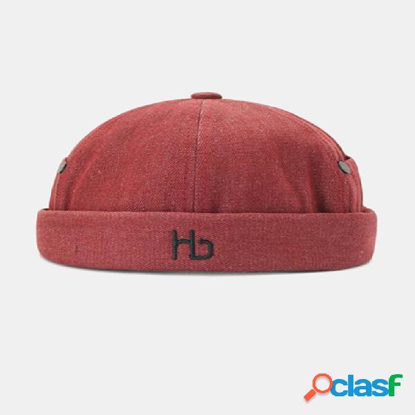 Sombreros sin ala unisex bordados con letras de color sólido cráneo sombrero sombrero de hip hop
