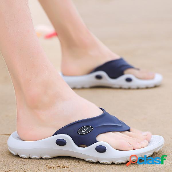 Hombre clip toe antideslizante playa zapatillas chanclas informales