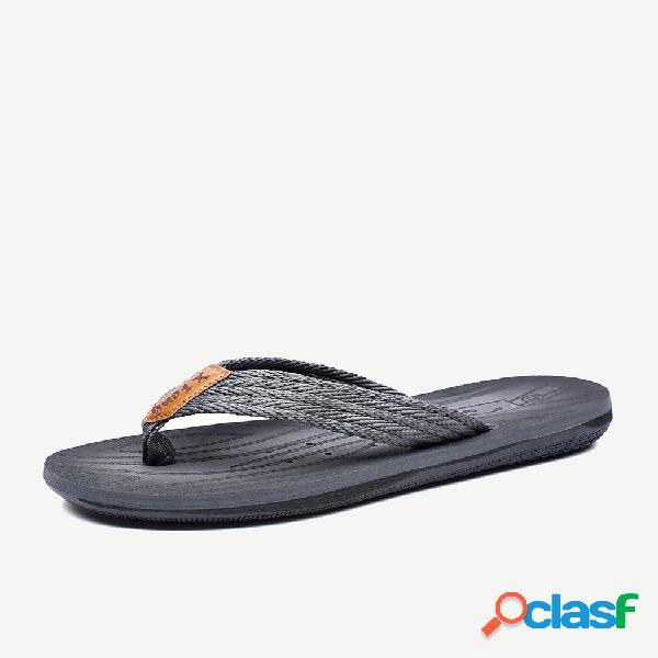 Hombre correas clip toe cómodas chanclas sandalias de playa