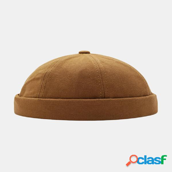 Sombreros sin ala unisex de color sólido cráneo gorras sombrero de hip hop