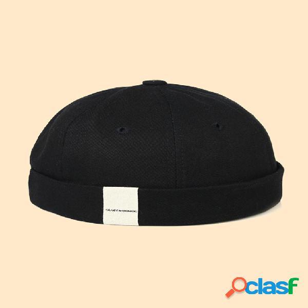 Hombre y mujer casual hip hop cráneo gorras vendimia sombreros sin ala con puños enrollados cráneo sombreros