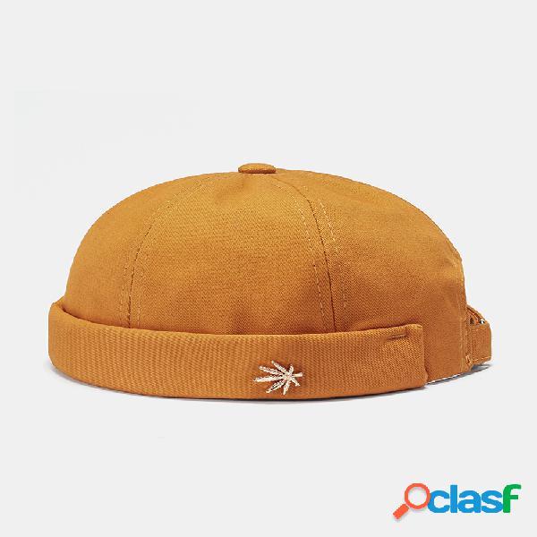 Hombre & mujer sombreros sin ala de color sólido coco etiqueta de árbol cráneo gorras sombrero de hip hop