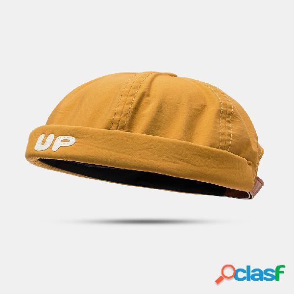 Hombre mujer sección delgada sombrero hip hop sombrero cráneo gorras t gorra marinera con letras up