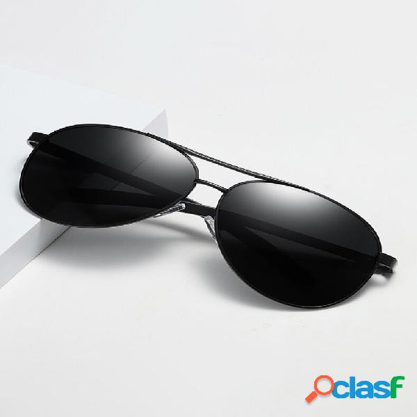 Gafas de sol polarizadas de sombra marrón anti-uv para hombres de mediana edad