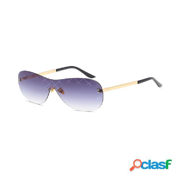 Gafas de sol sin marco para mujer y hombre conectadas lente gafas de sol con montura metálica