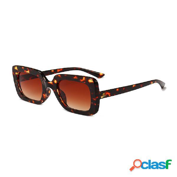 Gafas de sol cuadradas de moda para mujer al aire libre uv anteojos gafas de sol finas de alta definición