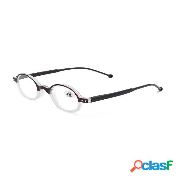 Hombres mujer lectura redonda de alta definición gafas al aire libre computadora doméstica presbicia gafas