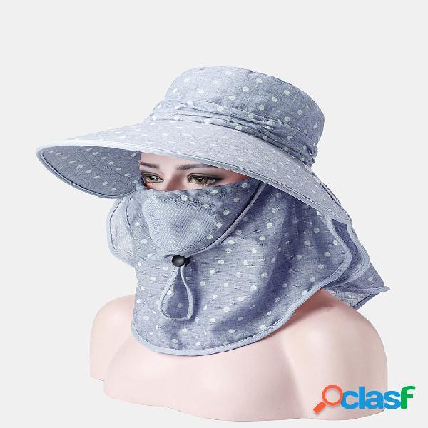 Gorra de cola de caballo con cubierta multifunción para mujer playa gorra de protección solar para conducción con chal para el sol