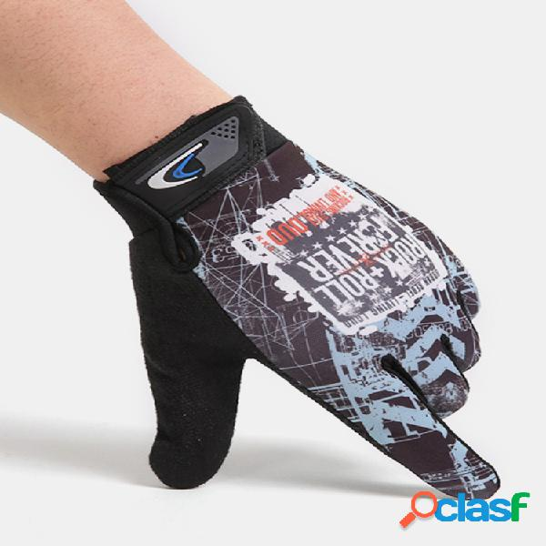 Pantalla táctil de dedo completo transpirable para hombre con protección solar antideslizante guantes al aire libre equitación deportiva guantes