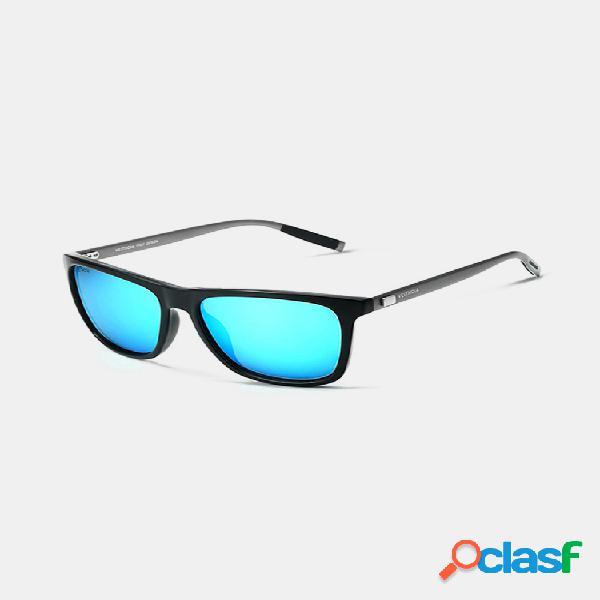 Hombre classic gafas de sol polarizadas cuadradas brillantes viajes conducción informal uv400 gafas