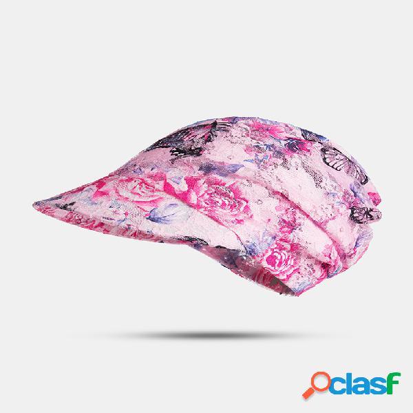 Imprimir verano uv protección protector solar sombrero al aire libre cubierta frontal playa ciclismo transpirable vacío superior sombreros