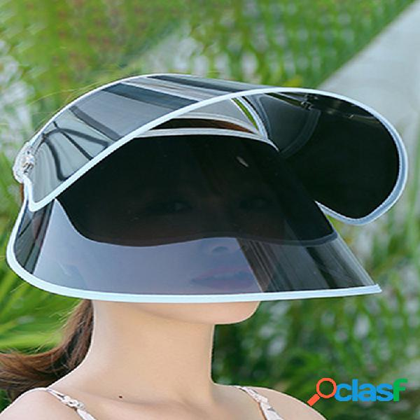 Parte superior vacía anti-ultravioleta al aire libre protección solar sombrero ciclismo doble cara de cubierta de alero grande