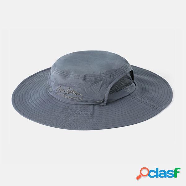 Nuevo pesca sombrero sol de hombre sombrero al aire libre protector solar sol de montañismo sombrero ala grande pesca pescador transpirable sombrero