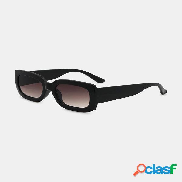 Gafas de sol cuadradas de protección de verano informal clásico de montura gruesa completa para mujer uv