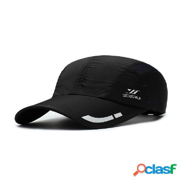 Béisbol transpirable de malla de impresión casual de verano para mujer para hombre sombrero al aire libre gorra deportiva para sombrilla