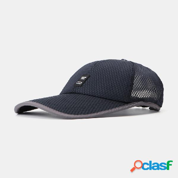 Hombres verano algodón mash transpirable béisbol sombrero al aire libre protector solar informal sombrero