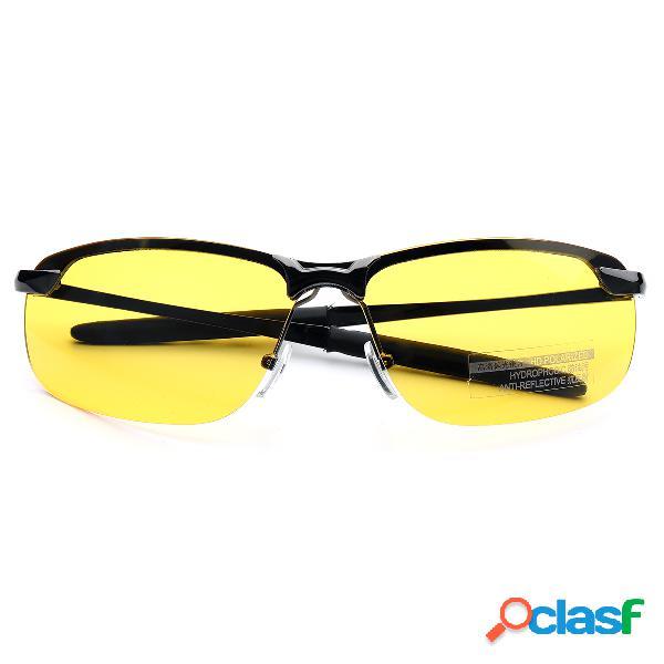 Uv400 gafas de sol polarizadas driving sun gafas gafas de visión nocturna ojo salud cuidado