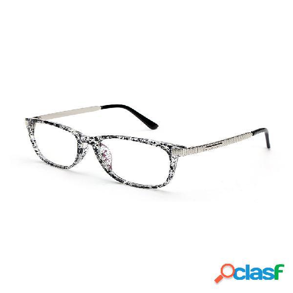 Mujeres hombres montura de anteojos retro montura completa gafas transparente lente diseñador de metal
