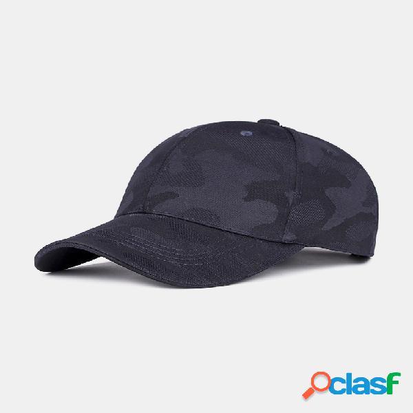 Hombre al aire libre gorra de béisbol de camuflaje informal sombrilla ajustable golf sombrero