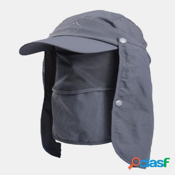 Protección uv al aire libre pesca gorra hombre sun sombrero gorra de secado rápido gorra de béisbol