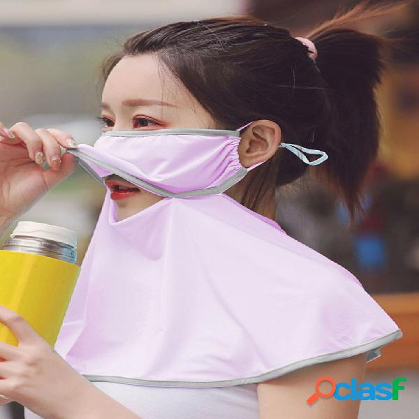 Bufanda de protección solar al aire libre cara de conducción transpirable mascara verano impresión de secado rápido cuello mascara