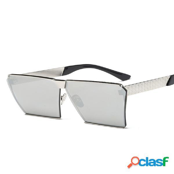 Gafas de sol cuadradas anti-uv de moda para mujer colores de viaje gafas informales
