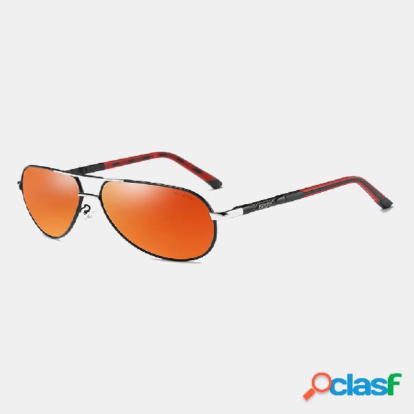 Hombres mujeres gafas de sol polarizadas anti-uv moda al aire libre anteojos gafas de sol de vacaciones casuales
