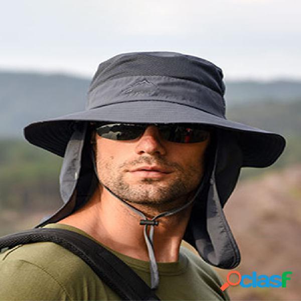 Removible al aire libre protector solar de secado rápido impermeable fisherman sombrero transpirable sombrero