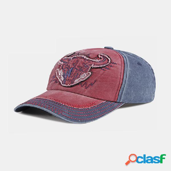 Bordado al aire libre personalizado gorra de béisbol de mezclilla lavada sombrilla sombrero