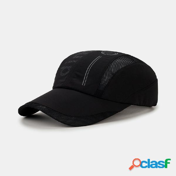 Gorra de béisbol de secado rápido de verano para hombre gorra de visera de malla transpirable cool al aire libre gorra deportiva