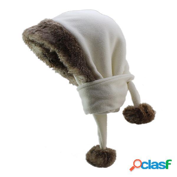 Gorros cálidos de lana gruesa para hombre para mujer sombrero al aire libre esquí a prueba de viento ambos usan bufanda y gorra con doble
