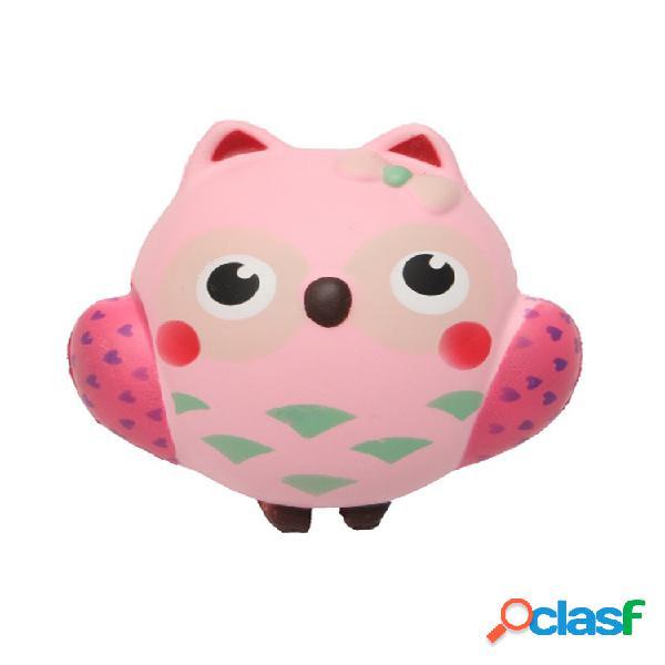 Squishy owl slow rebound toy squeeze slow rising soft animal pet colección regalo decoración juguete