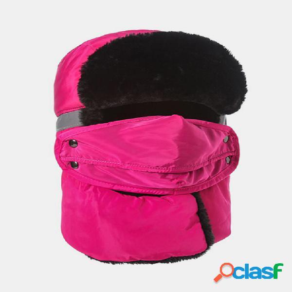 Hombre mujer cálido impermeable esquí resistente al viento reflexivo engrosamiento protección total mascara cara cuello sombrero
