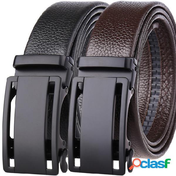 Hebilla automática de cuero de capa superior con ribete de alta calidad cinturón cuero automático de hombre cinturón