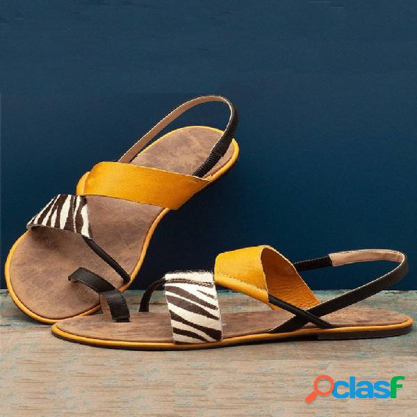 Tallas grandes mujer zapatos planos con puntera con clip sandalias