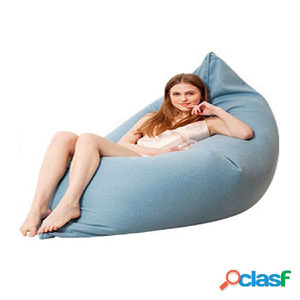 130x160cm último algodón de color sólido soft bean bolsa funda para tumbona de sofá lavable sin relleno