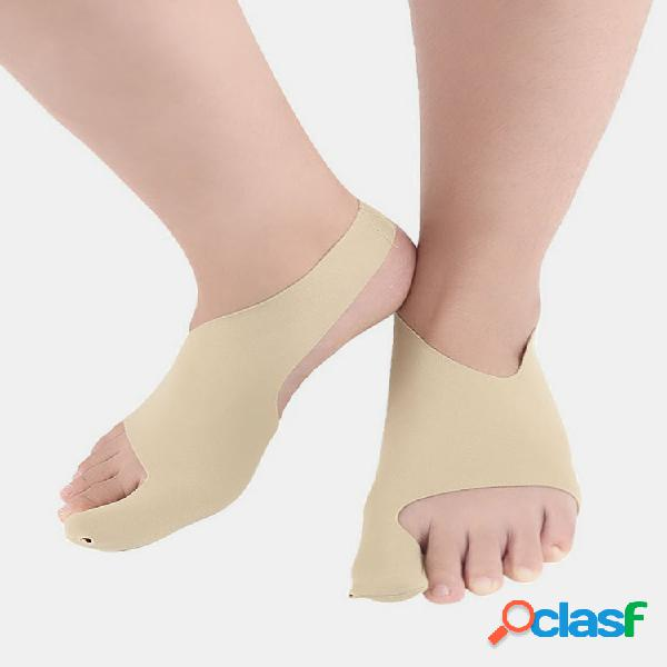 Hombre mujer corrección de vendaje del dedo gordo protector de pie para esguinces anti-sentadillas de alta elasticidad