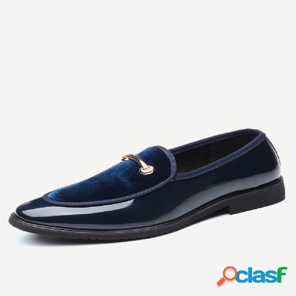 Zapatos formales de empalme de cuero para hombre de gran tamaño vestido