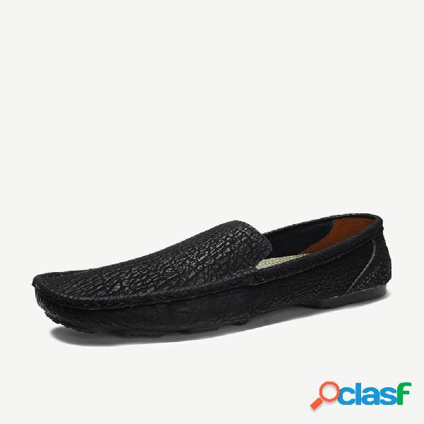 Nuevos zapatos para hombres zapatos de guisantes de cuero juegos de pies zapatos casuales zapatos de costura hechos a mano