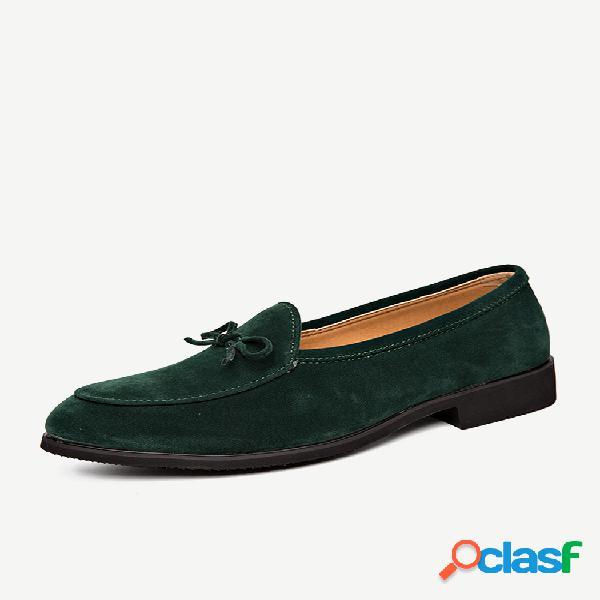 Zapatos formales casuales de gran tamaño de gamuza antideslizante para hombres