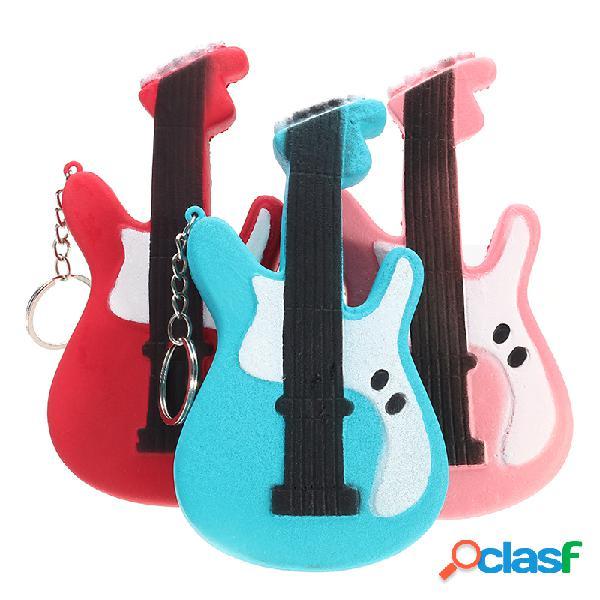 Guitarra squishy slow rising toy squishy tag soft colección linda regalo decoración juguete