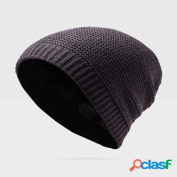 Tejido de invierno good stretch beanies sombrero para hombres mujer casual cálido soft skullies bonnet sombrero