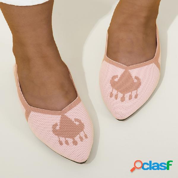 Tallas grandes mujer zapatos planos cómodos y transpirables con punta en punta