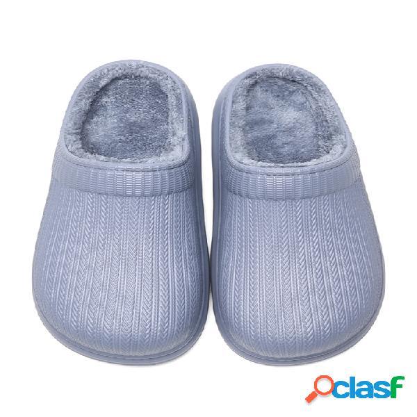 Hombre antimanchas impermeable antideslizante suela usable hogar algodón zapatillas