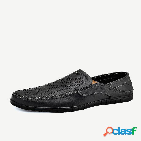 Zapatos de conducción transpirables de gran tamaño para hombres zapatos de cuero
