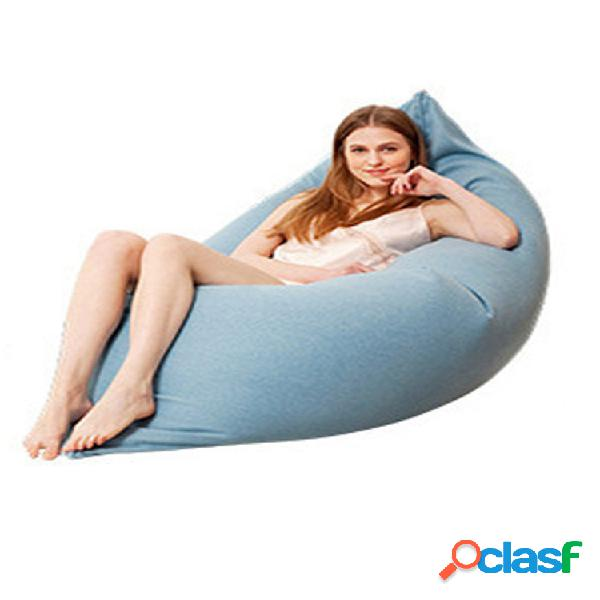 120x150cm último algodón de color sólido soft bean bolsa funda para tumbona de sofá lavable sin relleno