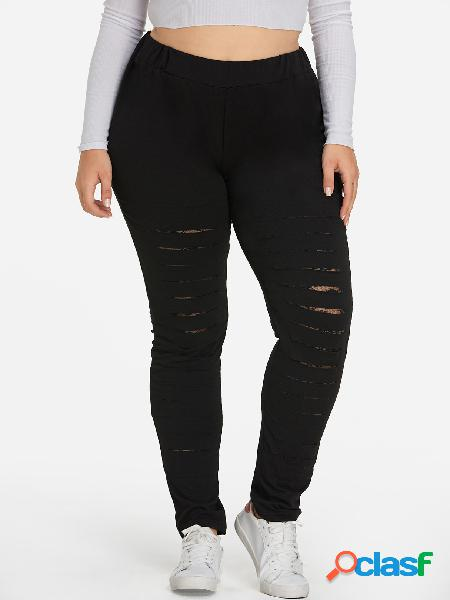 Pantalones de talla grande negros