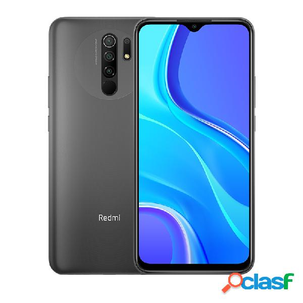 "Smartphone xiaomi redmi 9 6.53"" dual sim, 2340 x 1080 pixeles, 32gb, 3gb ram, 4g, android 10.0, gris"